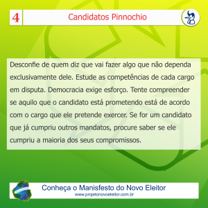 Card - candidatos pinnochio